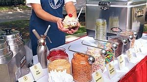Soft Serve Ice Cream Sundae Bar